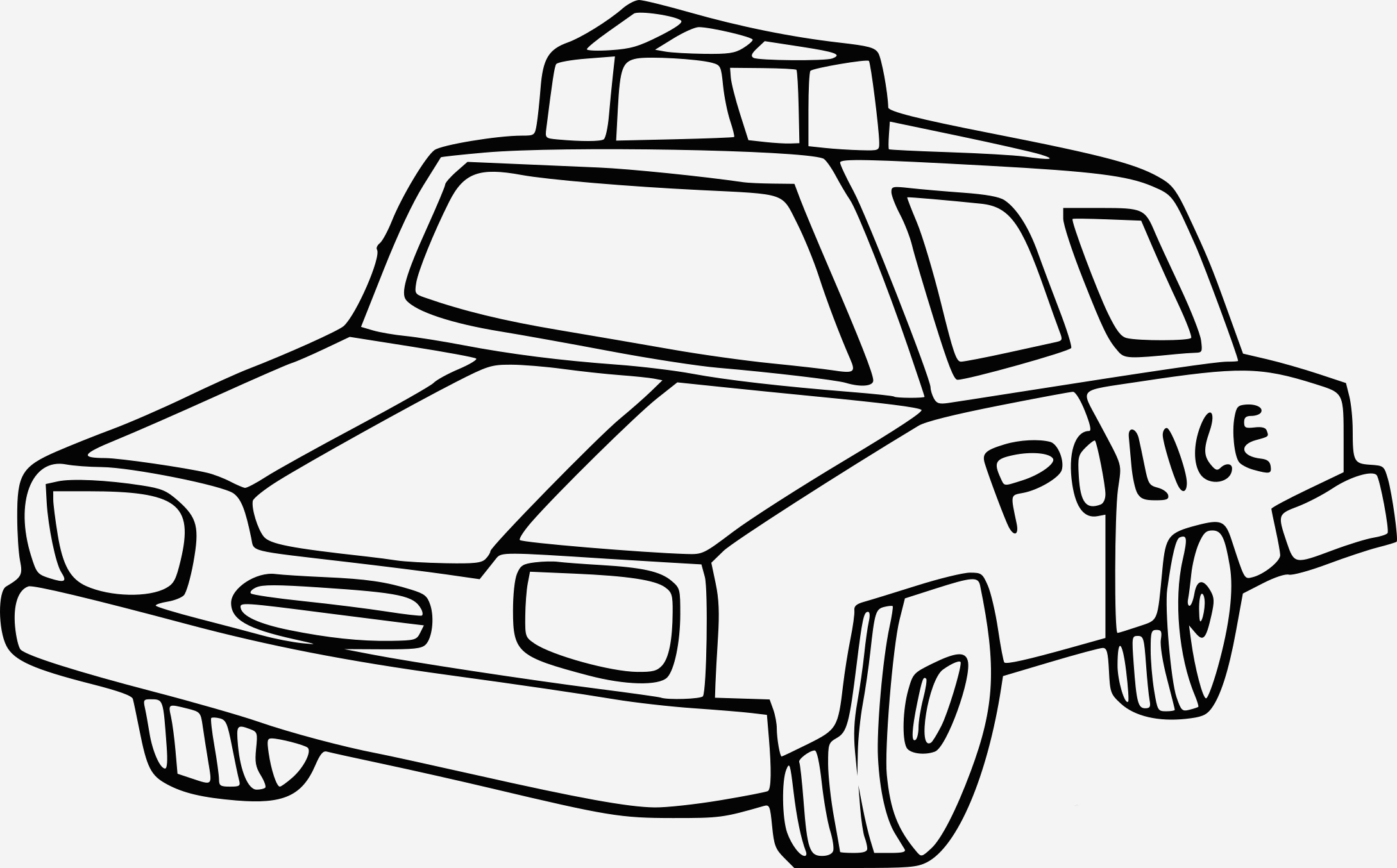Coloriage Voiture De Police Lovely Coloriage Voiture De Police  Imprimer Of Coloriage Voiture De Police