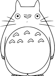 coloriage totoro chat bus