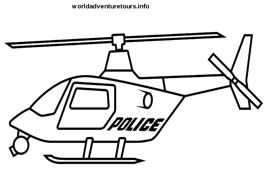 coloriage helicoptere police