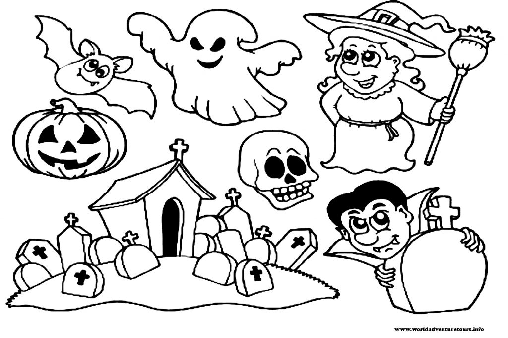 coloriage à imprimer halloween kawaii