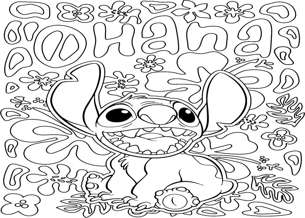 coloriage mandala disney stitch