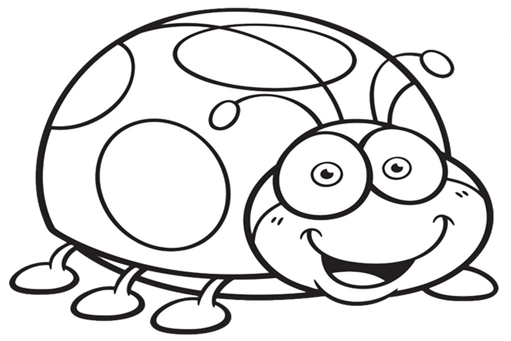 coloriage insectes rigolos maternelle